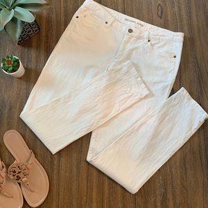 Michael Kors ivory skinny jeans size 8